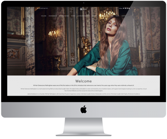 Website Rebuild for M Hair
