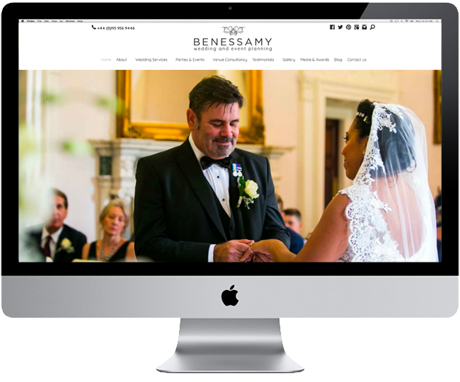 Benessamy Wedding & Event Planning Website Redesign