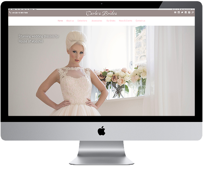 New Website For Carla's Brides