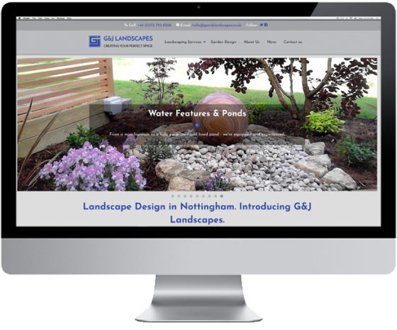 Website Design for GandJ Landscapes