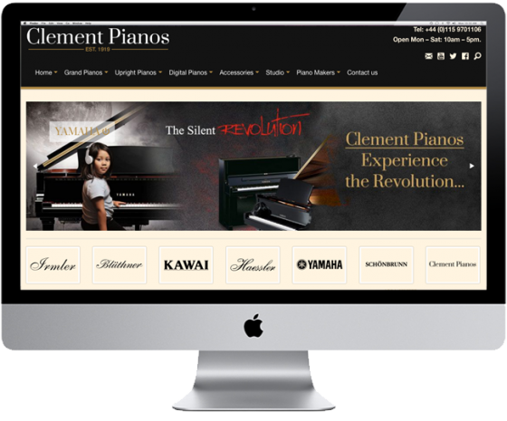 Website Redesign for Clement Pianos