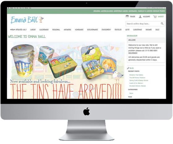 Emma Ball Ecommerce Website