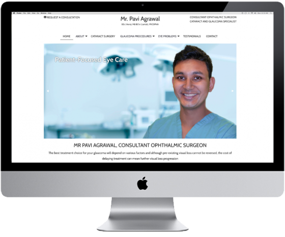 Website for Mr. Pavi Agrawal