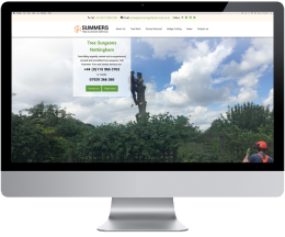 New Website For Tree Surgeon in Nottingham Summers Tree & Garden Services