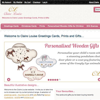 Website Design for Claire Louise