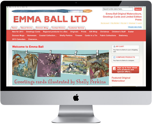 Emma Ball E Commerce Website