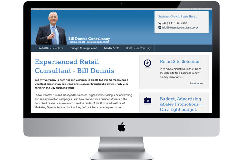 Bill Dennis Responsive Website