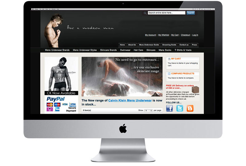 For A Modern Man E-Commerce Website