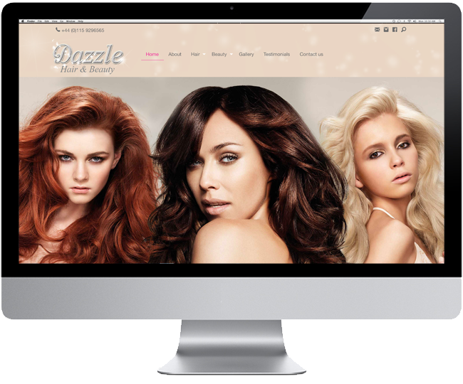 New Website for Dazzle Hair and Beauty
