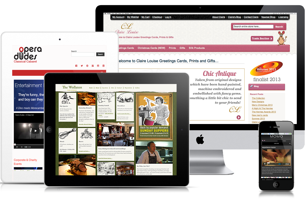 Website design in Nottingham by Chris Fickling Design
