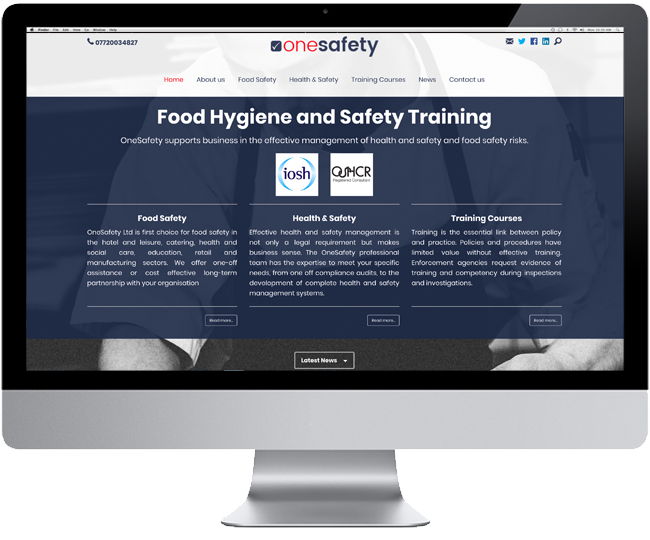 Website design for One Safety Ltd